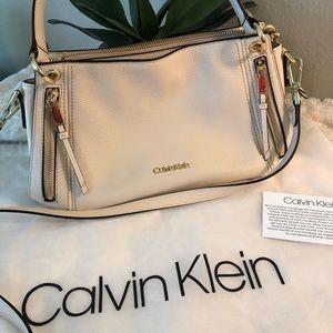 Calvin Klein cream leather purse
